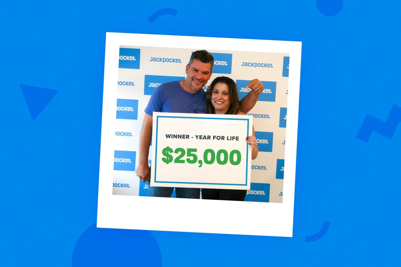 $25,000 for life winner on Jackpocket