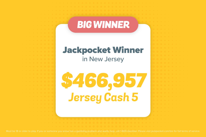Jersey Cash 5 jackpot win