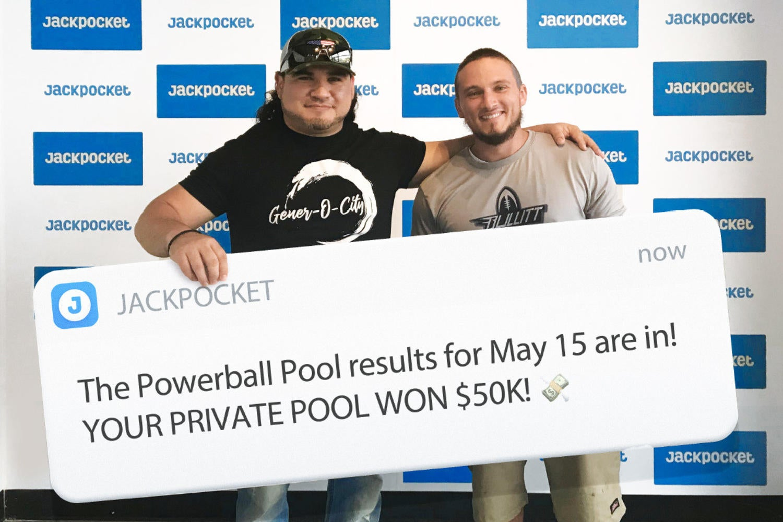 jackpocket lottery pool wins $50,000