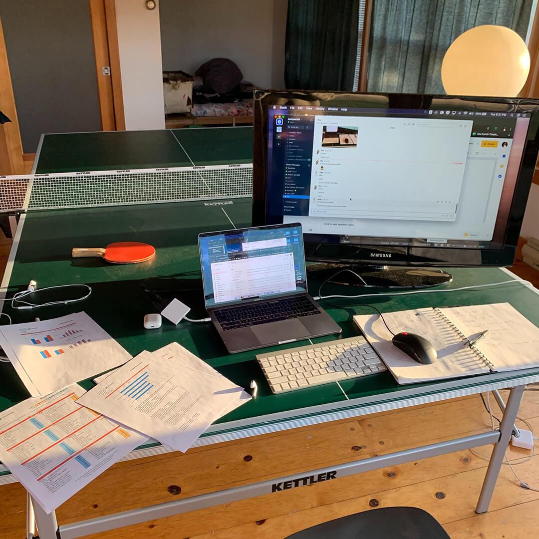 zack's desk