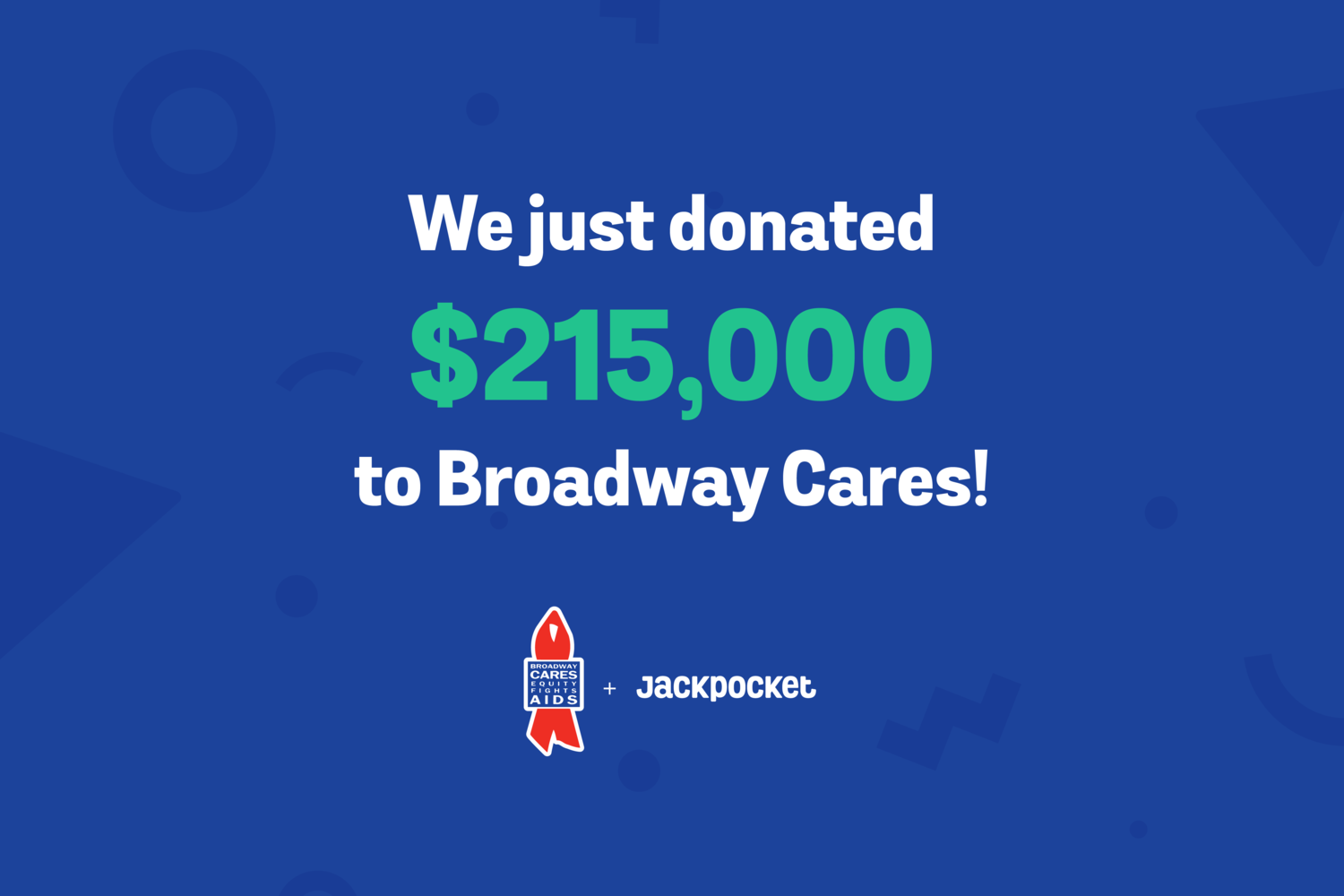 Jackpocket lottery app donates $215,000 to Broadway Cares