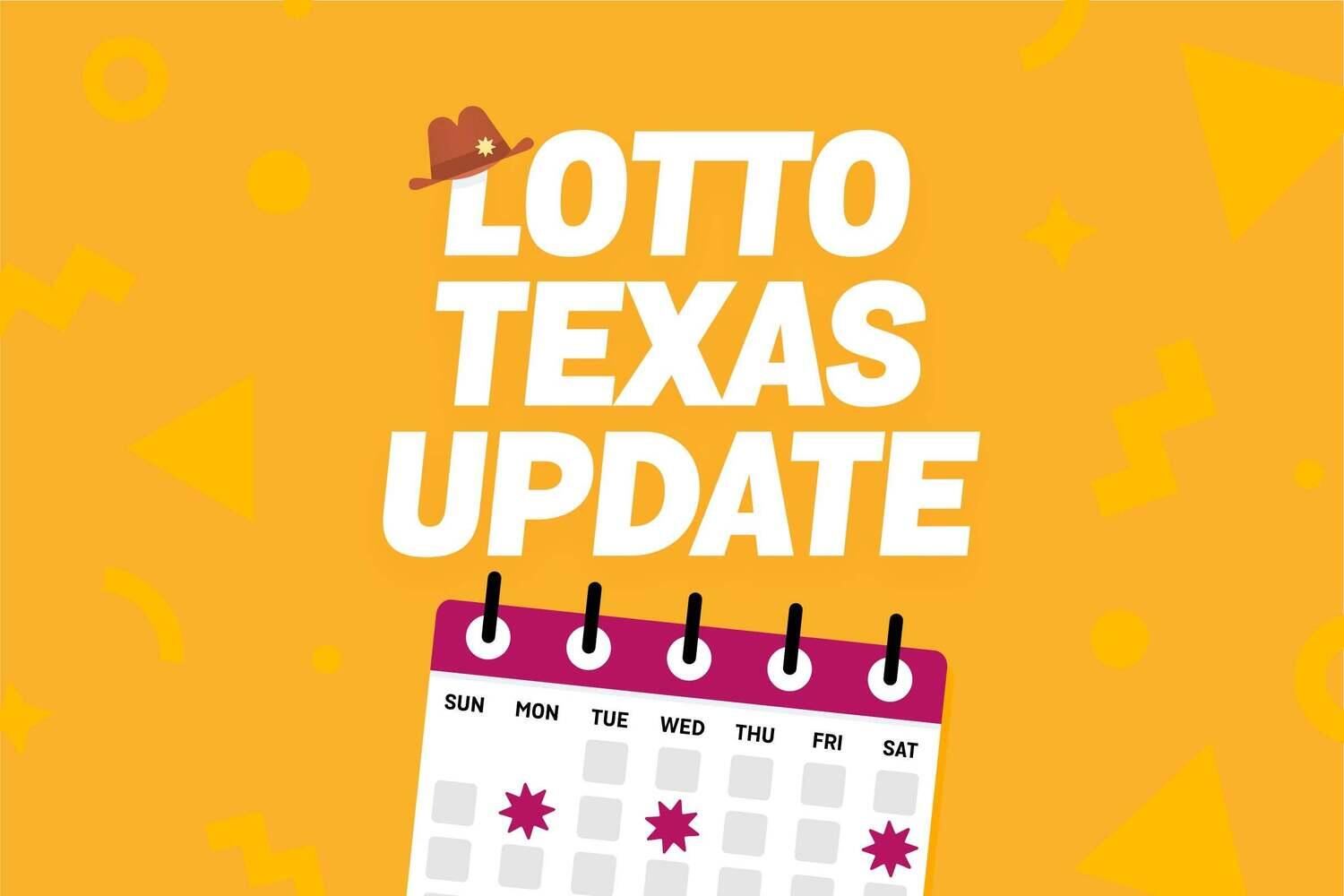 Lotto Texas now draws 3 times a week