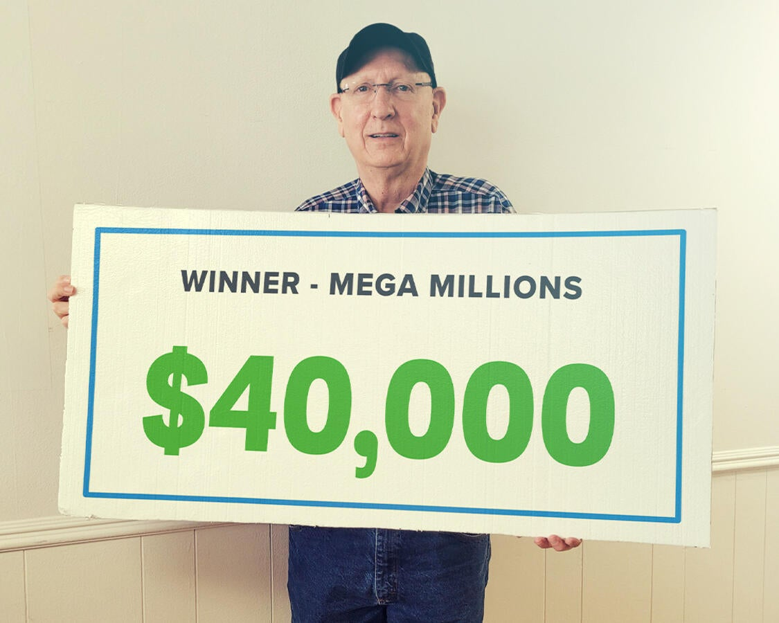 Gary won $40,000 playing Mega Millions