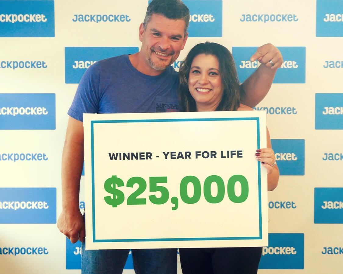 Lucky for Life winner on Jackpocket app