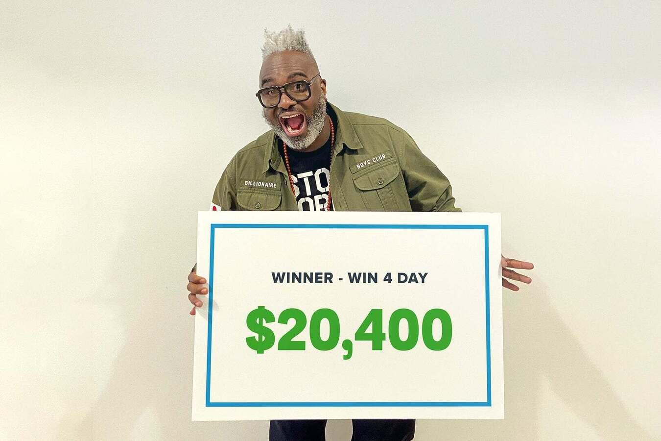 Colin won $20,400 playing Win4 on Jackpocket
