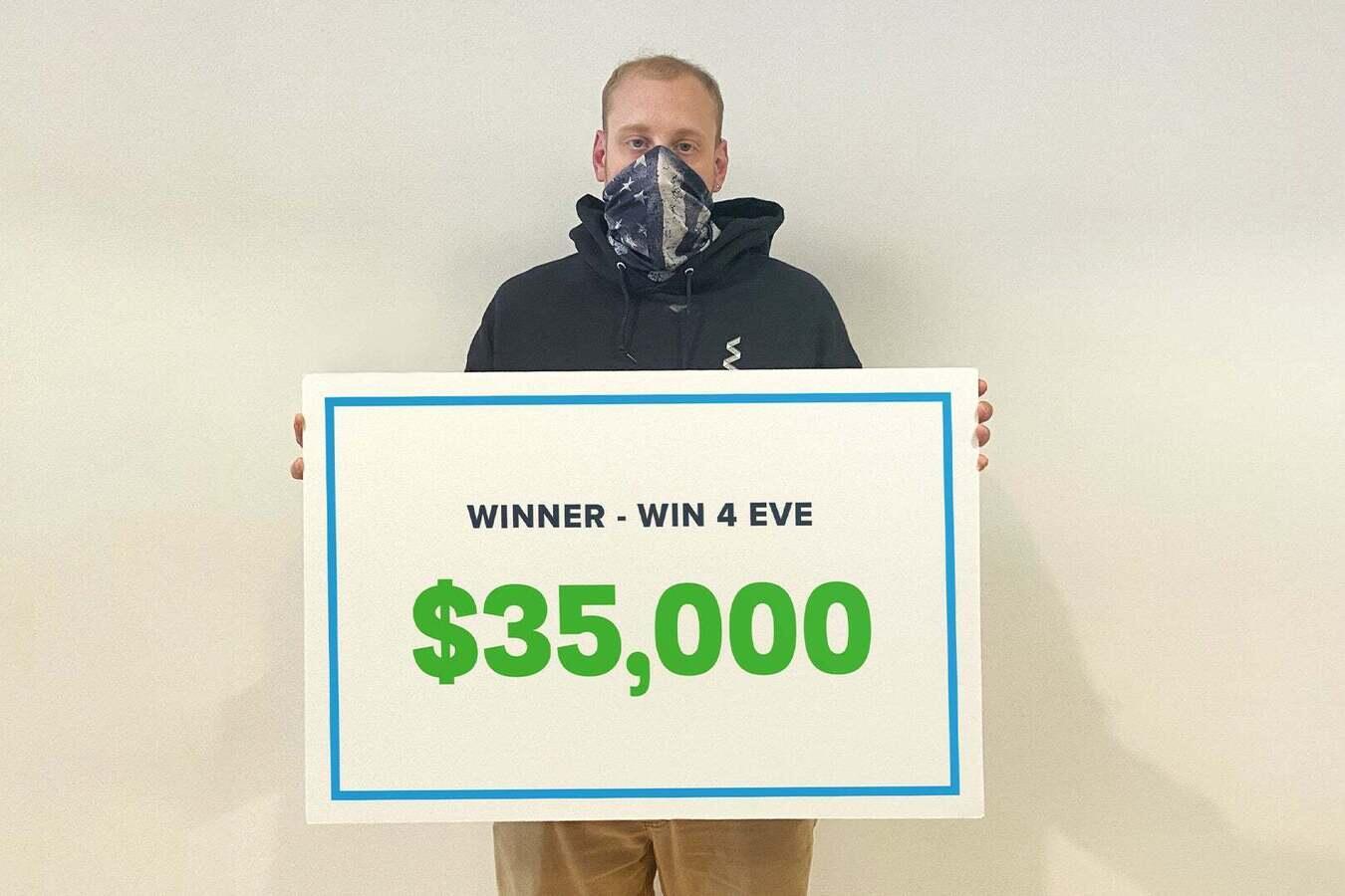 John won $35,000 playing Win4 on Jackpocket