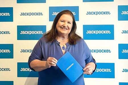 Catherine won $100,000 on Jackpocket