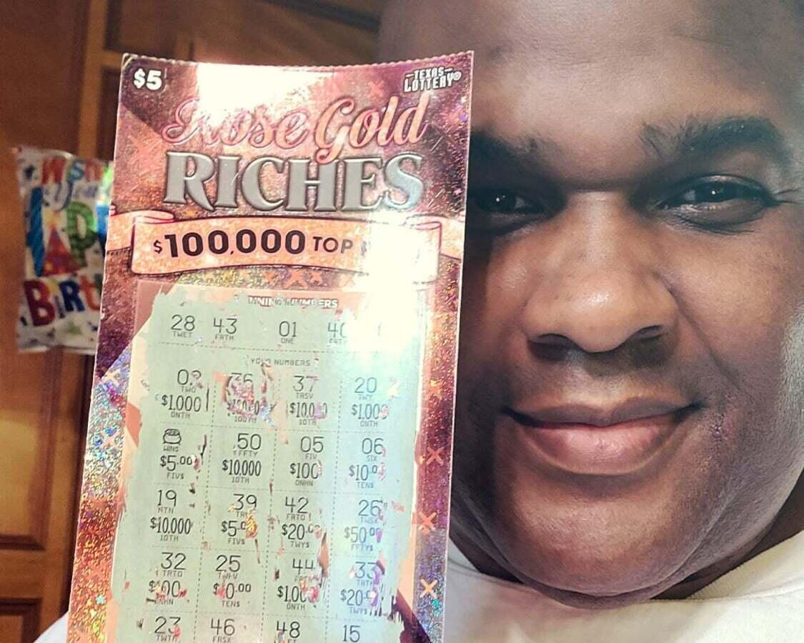 Michael V. won $10 on a scratch-off ticket